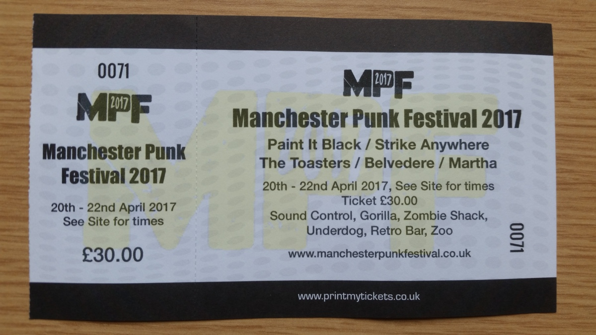 Manchester Punk Festival: Where I'll Be and Why