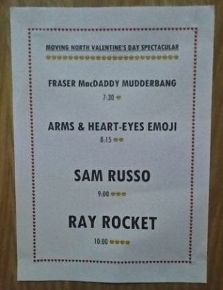 Manchester Moving North Poster Sam Russo Ray Rocket Gig