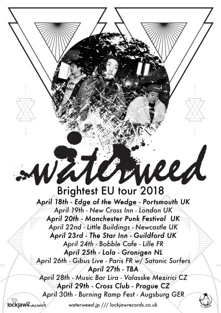 Waterweed Brightest EU Tour poster