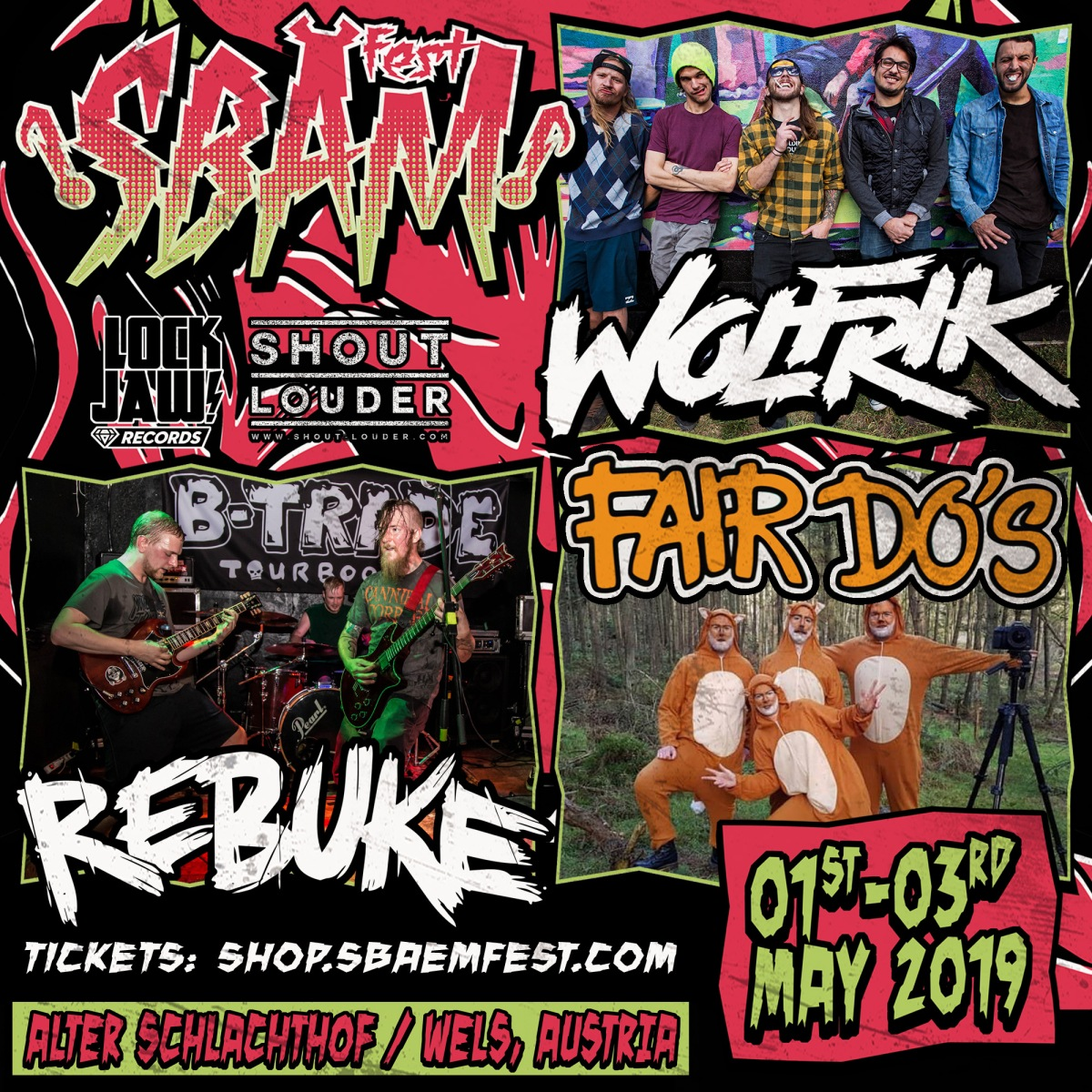 News: SBÄM Fest Announces Fair Do's, Rebuke & Wolfrik