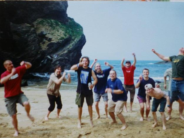 19 Newquay on the beach with Consumed. Notice Steve Consumed on the left still wearing his own fucking merch ha ha
